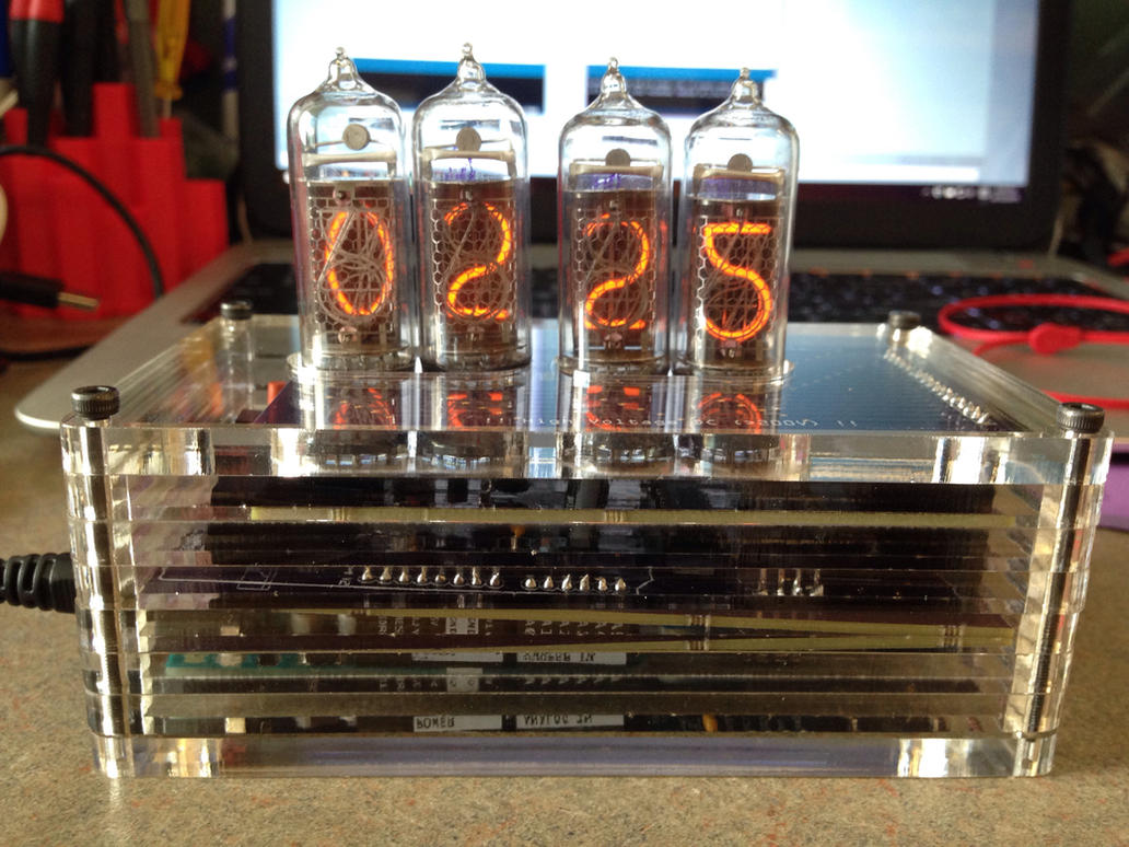 Nixie Clock by pyrohmstr