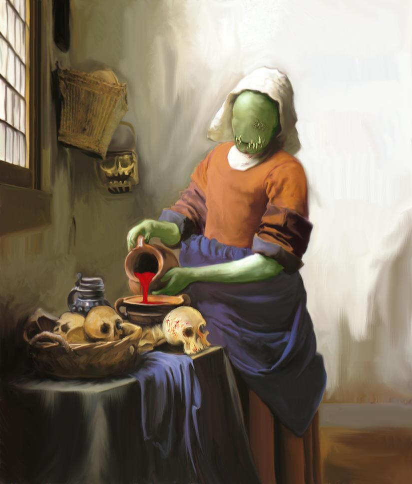 Halloween Vermeer by thatsmymop
