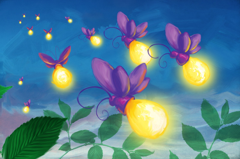 Lightning bug painting - photo#13