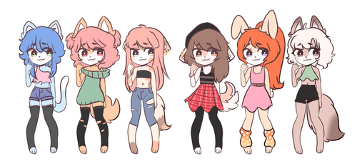 Sonic/Furry girl adopts OPEN 3usd 300p