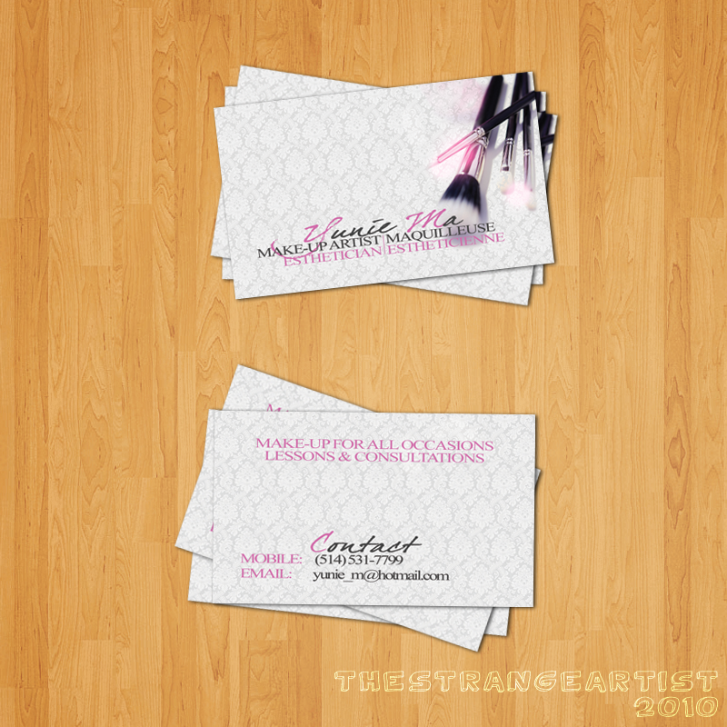 Make-up Artist Business Card by TheStrangeArtist on DeviantArt