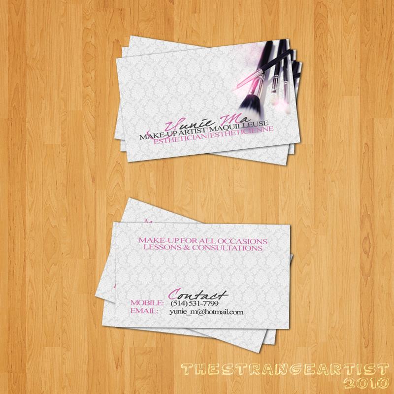 Make up Artist Business Card by TheStrangeArtist on DeviantArt