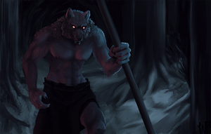 That werewolf is watching you! by White-Leonard