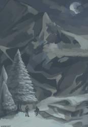 Mountains of Skyrim by White-Leonard