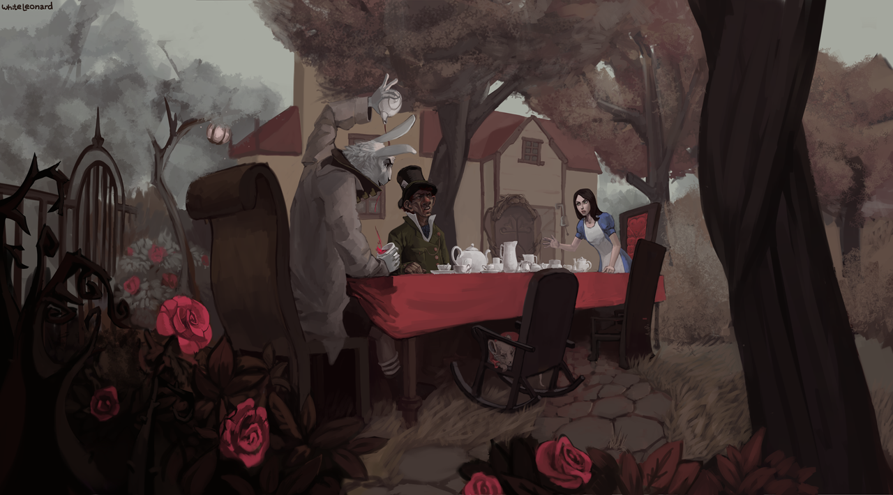 Alice on the Tea Party by White-Leonard