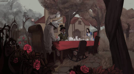 Alice on the Tea Party