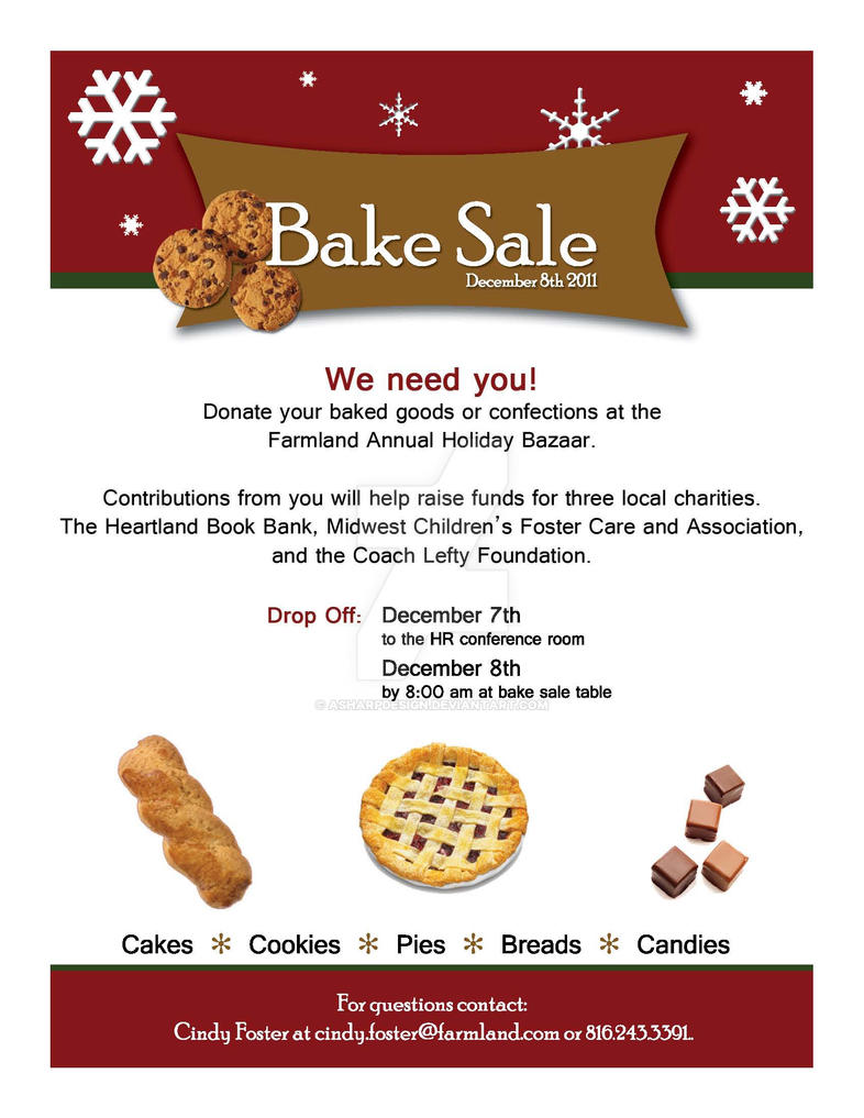 Bake Sale Flyer By Asharpdesign ...