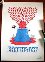 EARTHBARF - RISOGRAFIA PRINT by laresistance