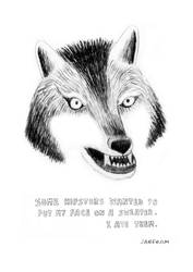 HIPSTER WOLF by laresistance