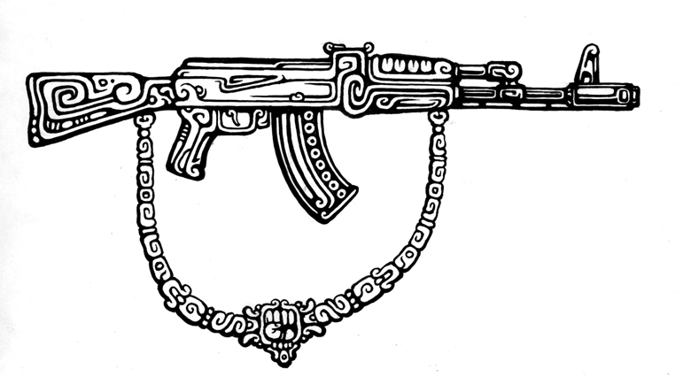Pictures Of Ak47 Drawings In Pencil Rock Cafe