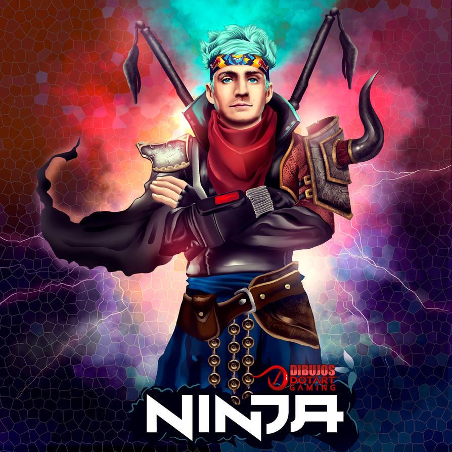 ninja fortnite by xxcha0sxx - fortnite ninja dibujo