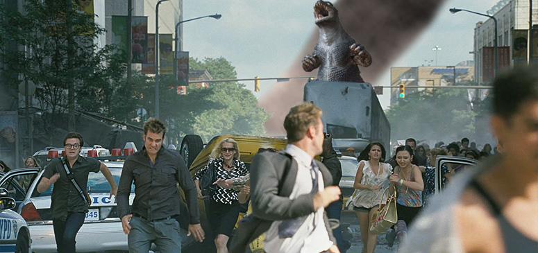 Running from Godzilla by Awesomeness360 on DeviantArt