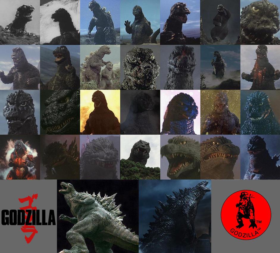 All 30 Godzilla designs by Awesomeness360