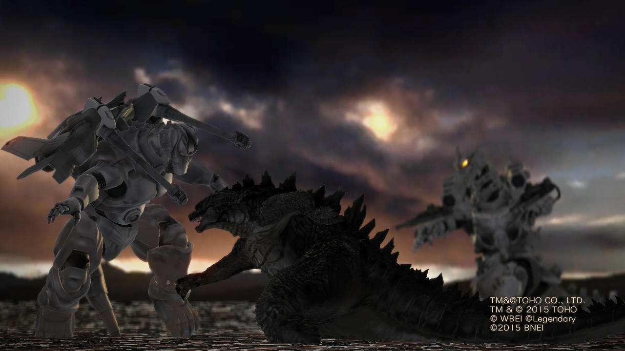 Godzilla vs. two Mechagodzillas by Awesomeness360 on ...