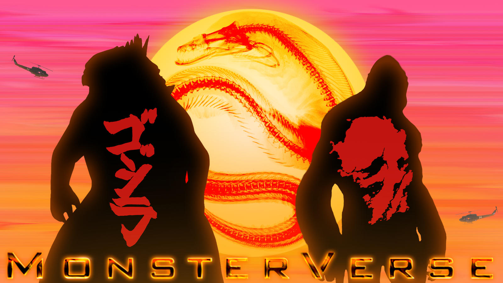 MonsterVerse wallpaper by Awesomeness360