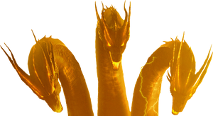King Ghidorah (MonsterVerse) Transparent by Awesomeness360