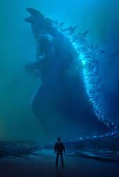 Godzilla KOTM - Godzilla Poster | Textless by Awesomeness360