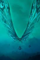 Godzilla KOTM - Mothra Poster   Textless by Awesomeness360