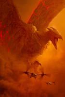 Godzilla KOTM - Rodan Poster   Textless by Awesomeness360