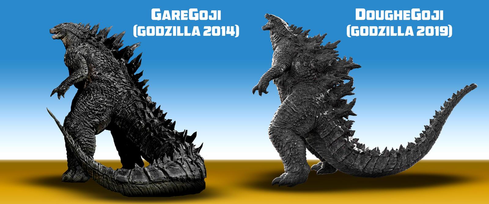 Godzilla 2014 2019 Comparison By Awesomeness360 On Deviantart