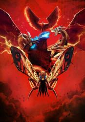 Godzilla KOTM Chinese Poster - Textless by Awesomeness360