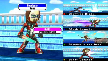 Smash 3DS CrimsonGMR (Mii Swordfighter)