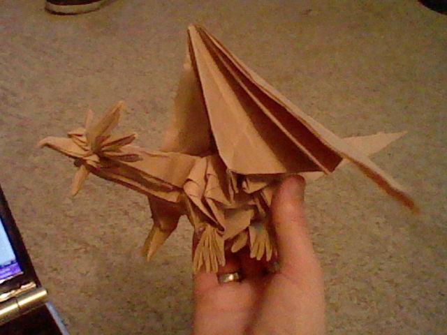 Ancient Dragon (Satoshi Kamiya): Front View | Happy Folding | 480x640