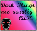 Cute Dark Things Stamp by rose-bleue