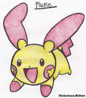 Plusle by Victorious-Kitten