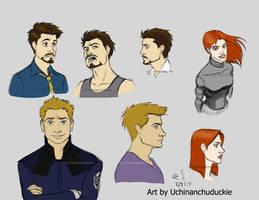 Kells' Tony, Clint, and Natasha - Recolored by UchinanchuDuckie