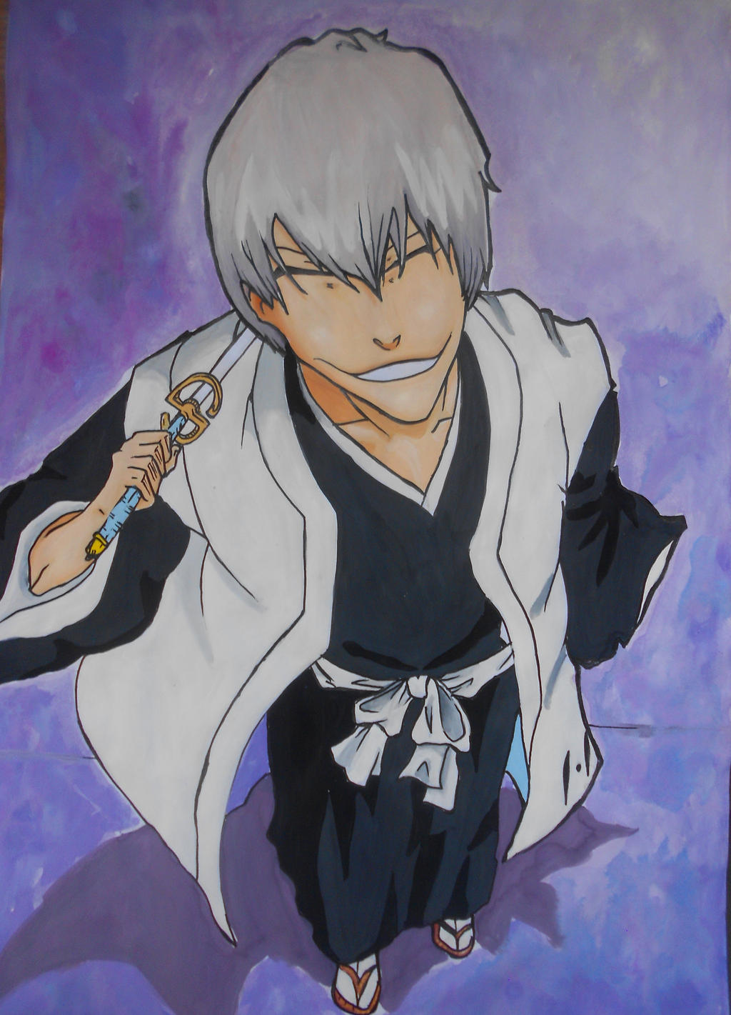 Ichimaru Gin's Devilish Smile :D by master-cartoonist