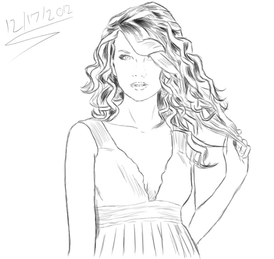 Taylor swift sketch by sarugaki339 on deviantart for Taylor swift coloring pages