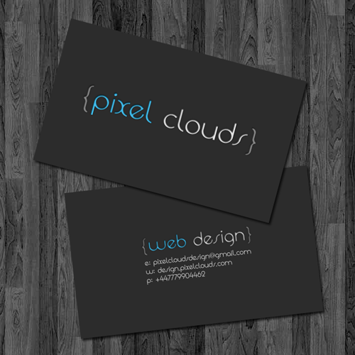 Pixel Clouds Business Cards by benbate