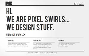 Pixel Swirls Web Design by benbate