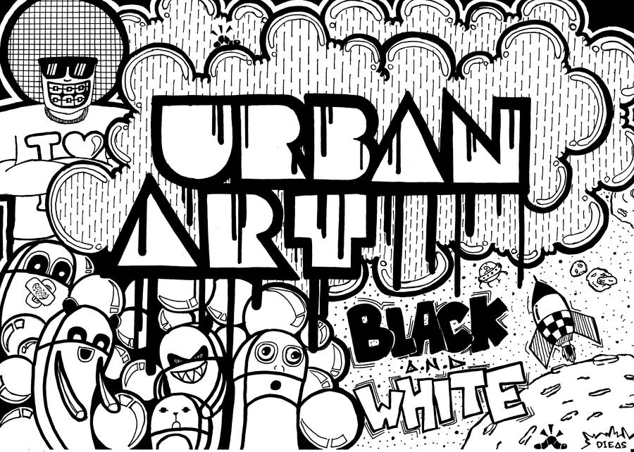Black And White Urban Art