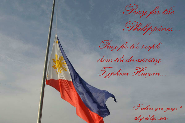 Phil. Flag (Half-Mast) - Pray for the Philippines by thephilipvictor