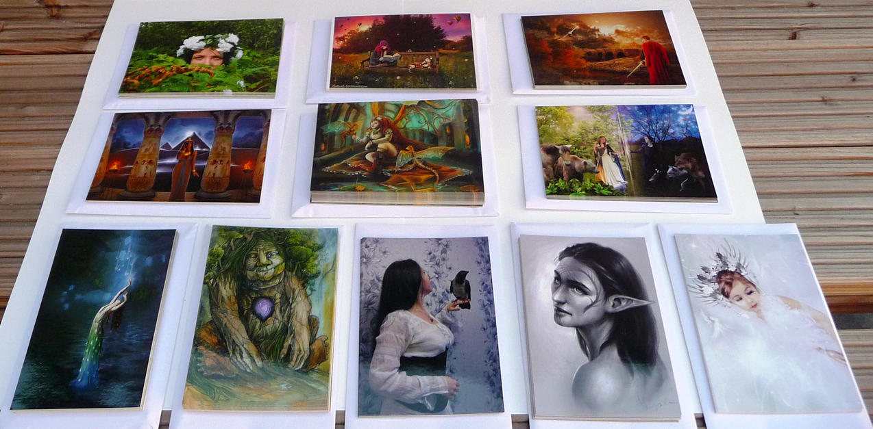DA Contest Poscards offered to winning artists 01 by Art-and-books