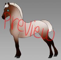 Horse lineart base (PSD) by Wouv