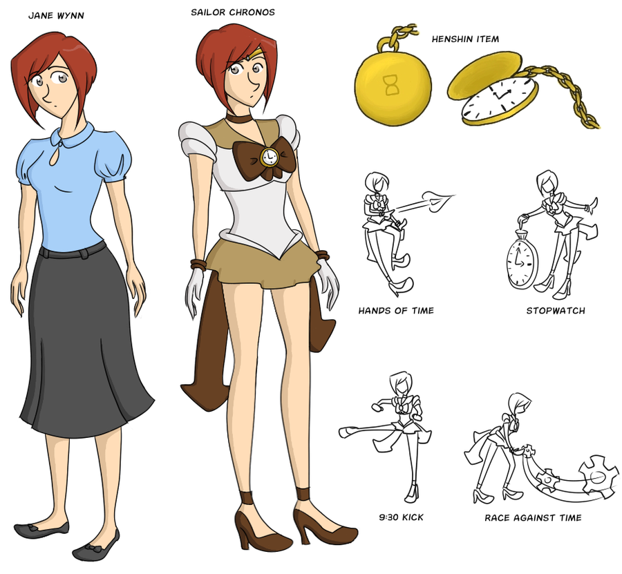 Sailor Chronos - New Ref Sheet by kennasaur