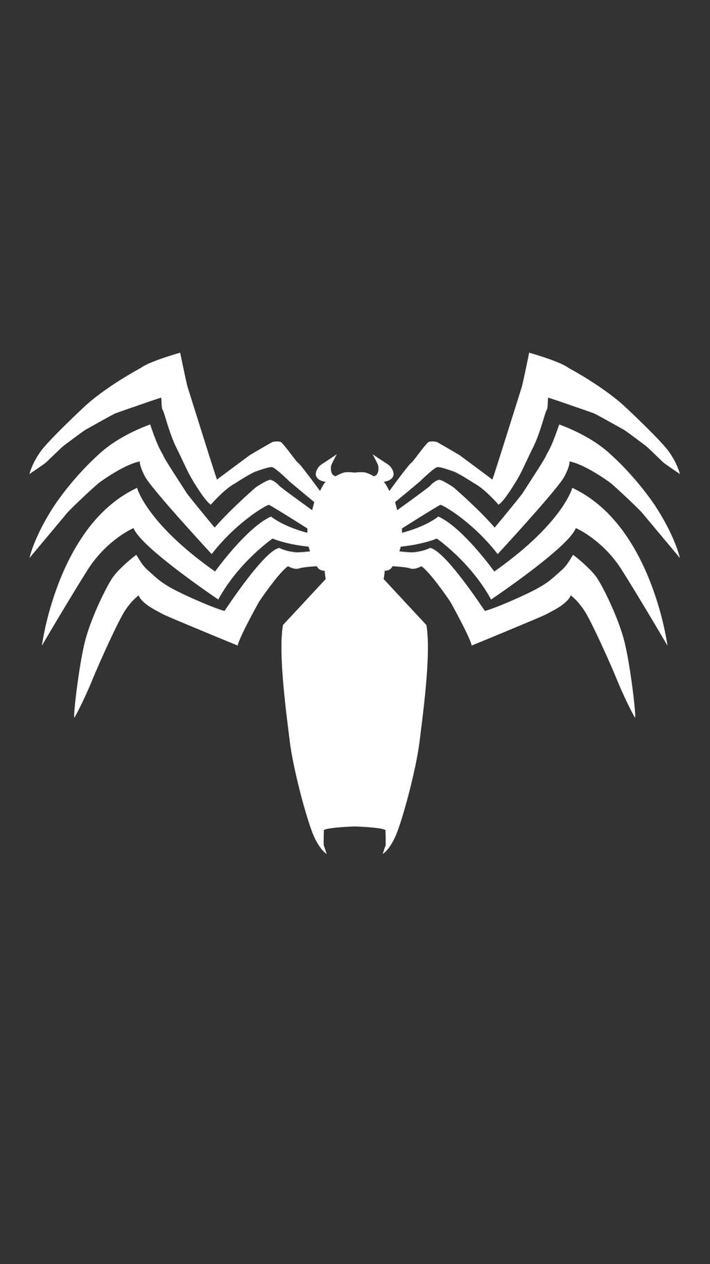 spider man  venom logo iphone wallpaper by truillusionstudios dbgfahb