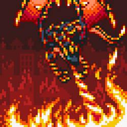 Blaster, Dragon Ruler of Infernos by Kaijira