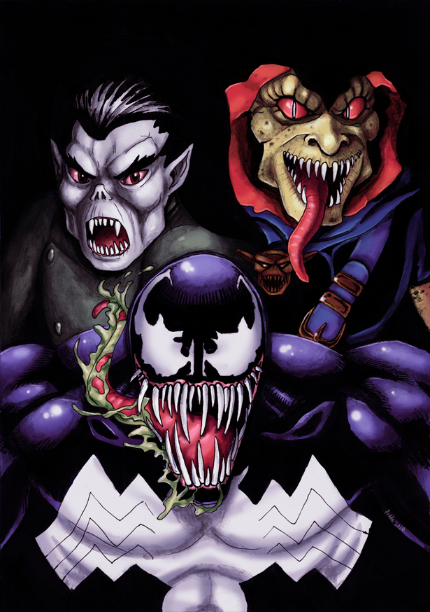 Venom Morbius DemoGoblin Color by fedde