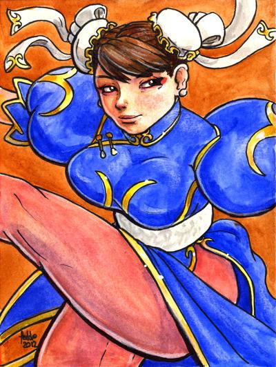 Sketchcard SF4 Chun Li by fedde