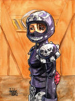 Sketchcard Rival Schools Akira by fedde