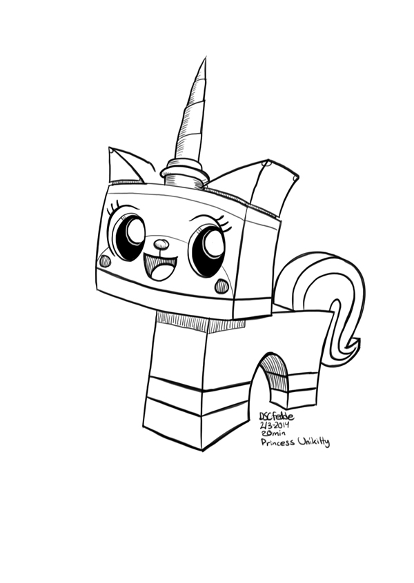 Princess Unikitty Coloring Pages : Daily sketches princess unikitty by fedde on deviantart