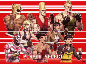 Tekken 20th Ann Trib Player Select by fedde