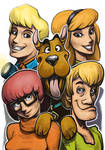 Daily Sketches Scooby Doo Gang