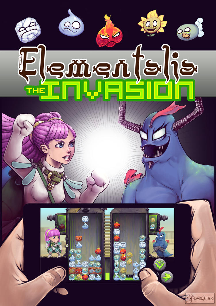 Elementalia the Invasion Poster by fedde