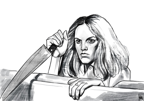 Daily Sketches Jamie Lee Curtis as Laurie Strode by fedde