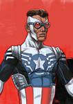 Daily Sketches Sam Wilson as Captain America